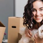 young couple unpacking household after a house move6110