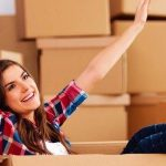 young couple unpacking household after a house move6104